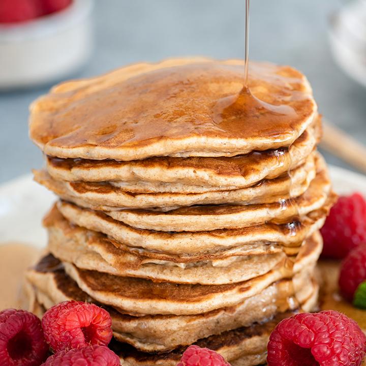 honey wheat buttermilk pancakes
